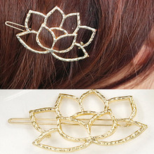 New Hair Jewelry Gold Flower Hairpins Gold Hairpin Acessorios Para Cabelo Women Hair pin Bridal Hair Accessories Gift t103(China)
