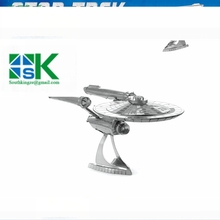 2016 Star Trek ENTERPRISE NCC-1701 3D metal puzzle model nano 2 Sheets Wholesale price Stainless steel D high quality
