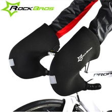 Rockbros Winter Cycling Gloves Windproof Waterproof Warm MTB Road Bike Gloves Bicycle Gloves Handlebar Covers Mittens Free Size