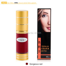 Hao Tattoo JX23 Gorgeous Red Eyebrow Permanent Makeup Pigment Vacuum Sterile Cosmetic Tattoo Ink 45ml Makeup Supplies