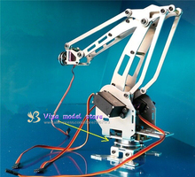 4 DOF CNC aluminum robotic arm frame Palletizing robot model 4-asix robot arm 4 servos