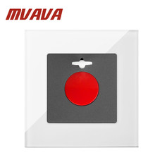 MVAVA SOS Switch Luxury White Crystal Glass Old Man Emergency Fire Alarm Wall Switch Free Shipping