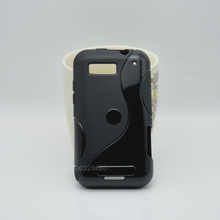 Simple And Fashion TPU Soft Gel S-Line Wave Anti-skid Rubber Matte Cover Case Skin For Motorola Defy MB525 / Defy Plus ME525(China)