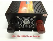 free DHL FEDEX UPS express+2000W power inverter 4000W(peak power) 12v to 220v or 24v to 220v or 48v to 220v Power Inverter(China)