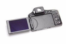 Free shipping!!95%New original For Panasonic Lumix DMC-FZ200 FZ200 Rear Back Cover With LCD Screen Hinge Rubber Repair Part
