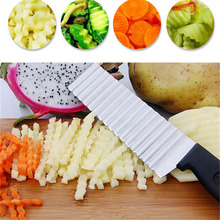 1 pc Wave Potato Cutter Stainless Steel Cucumber Carrot Potato Vegetable Waves Cutter DIY Creative Kitchenware JD708