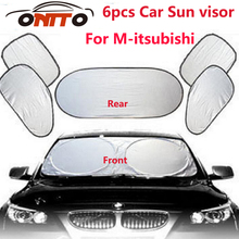 6pcs/set Car sun visor sunscreen insulation curtain block light Front/Rear shade anti UV windshield windows for Lancer 10 9 EX