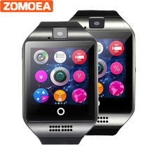 Smart Watch Q18 Plus Clock Sync Notifier Support Sim SD Card Bluetooth Connectivity Android Phone Smartwatch Alloy Smartwatch