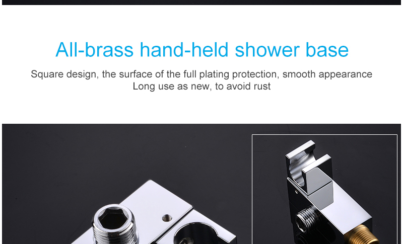 10'' Thermostatic Shower Systems Mixer Valve Set Install The Box Mixing Valve Handheld Bathroom Fold The Faucet Bath Shower Set (28)