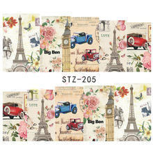 1Sheet Vintage Paris Style Designs Nail Art Water Transfer Stickers Decals Beauty Full Wraps Manicure Decor Tools BESTZ205