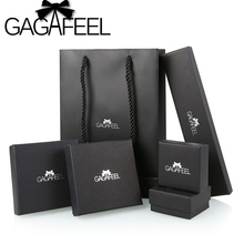 GAGAFEEL Black Paper Gift Box for Rings Necklace Bracelet Earrings Jewelry Set Jewelry Packaging(China)