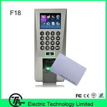 Biometric Linux System Fingerprint Access Control And Time Attendance F18 Fingerprint Door Entry System With RFID Card Reader(Hong Kong)
