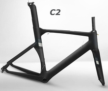 2017 Newest Aero Full carbon road bicycle bike frame Racing bike frame XXS XS S M L Di2 BB386 custom brand logo(China)