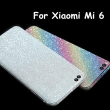 Bling Glitter Shiny Crystal Diamond Full Body Front and Back Wrap Decal Film Sticker Skin For Xiaomi 6 Mi 6