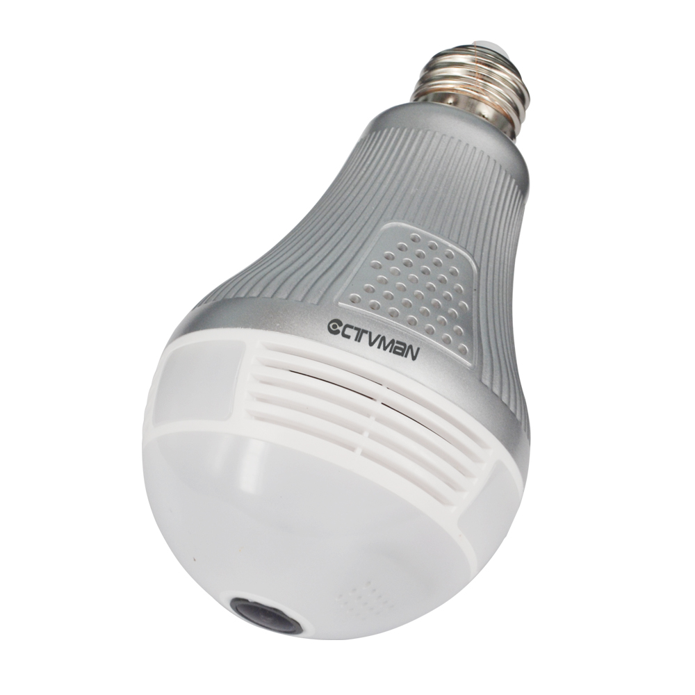 06CTVMAN Wi-fi Panoramic Camera 360 Degree Led Light Bulb Lamp IP Camera HD 3MP Wireless Cam VR