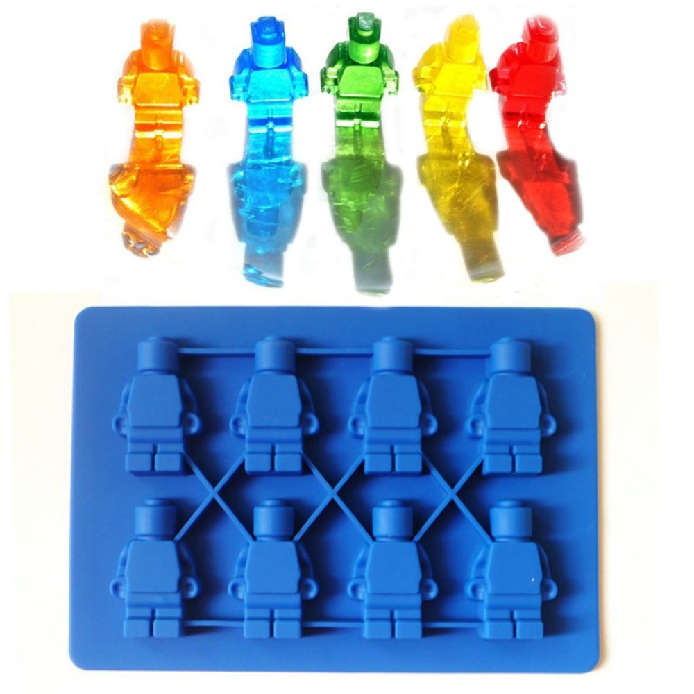 Minifigure Ice Cube Tray Silicone Candy Mold Sweet Chocolate DIY Moulds(China)
