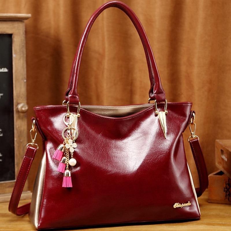 Beautiful pendant bolsa feminina high quality leather shoulder bag new 2017 women handbag CHISPAULO brand  free shipping<br>