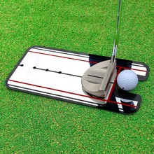 Golf Putting Mirror Alignment Training Aid Swing Trainer Eye Line Golf Practice Putting Mirror Large Golf Accessories 31*14.5cm(China)
