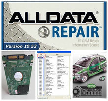 new arrival Auto Repair Software Alldata 10.53 + Mitchell 2015 + all data and Vivid Workshop in 1000GB HDD remote install!