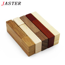 JASTER logo customer Wooden memory Stick bamboo wood usb flash drive pen drive pendrive 4gb 8gb 16gb 32GB U disk wedding gift(China)