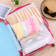 Transparent Waterproof Clothes Socks/Underwear Bra Shoes Storage Bag Travel Wash Protect Cosmetics Plastic Storage Bag