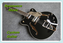 New Arrival Black Gretsch Electric Guitars China OEM Bigsby Guitarra Custom Available
