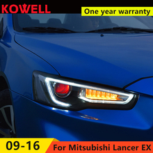 KOWELL Car Styling Head Lamp for LANCER Headlights LED Headlight ANGEL EYES BEAM DRL Bi-Xenon Lens HID Automobile Accessories(China)