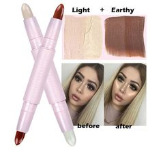 New Double-ended Highlight illuminator Contour Stick Beauty Creme Contour Highlight 3D Face Highlighter & Bronzer Makeup Set(China)