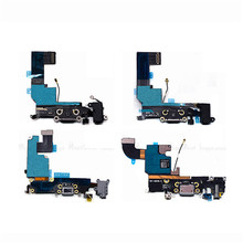 New Charging Charger Dock Connector Plug Port Flex Cable Ribbon For iPhone 4 4S 5 5S 5C SE 6 6S Replacement Parts(China)