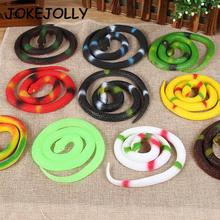 1Pc soft toy spoof Tricky toy snake simulation rubber snake toys funny for children scary WYQ