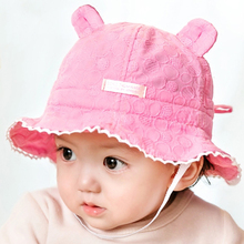 Baby hat caps children newborns cotton Cute Candy Color 6-18 months Baby Boy Girl kids hats Ears summer Sun Hats Caps Visors