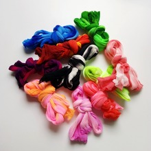 20pcs Multicolor Nylon Stocking Flower Handmade Tensile Material Diy Accessories Wedding Nylon Flowers(China)