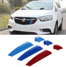 3D Car Front Grille Trim Sport Strips Covers Motorsport Power Sticker Car-styling For 2016 2017 Buick Encore Opel Vauxhall Mokka