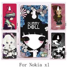 Specially DIY Design Phone Skin For Nokia XL 5.0 inch Cases Hard Plastic Luxury Smournful Ladypainting Print Shell Cover Hood