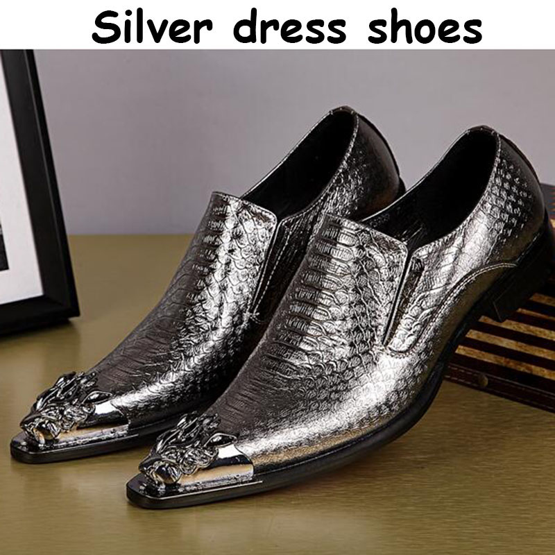 Fashion 100%Genuine Leather Men Dress Shoes Luxury Brand Mens Business Casual Shoes Classic Gentleman Shoes gold Wedding shoes<br><br>Aliexpress