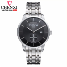 2017 New CHENXI Men's Classic Watch Men Fashion Small Dial Work Date Function Watch Casual Full Steel Quartz Watches Male Clock