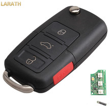 LARATH New 315mhz HU66 blade ID48 Glass Chip Flip Folding Key Remote Keyless Entry Car Fob For VW HLO1J0959753AM With Logo
