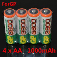 Brand New 2017 0riginal 4pcs/Lot For GP 1.2V NiMh 1000mAh AA    Battery Rechargeable AA Batteries pilas recargables