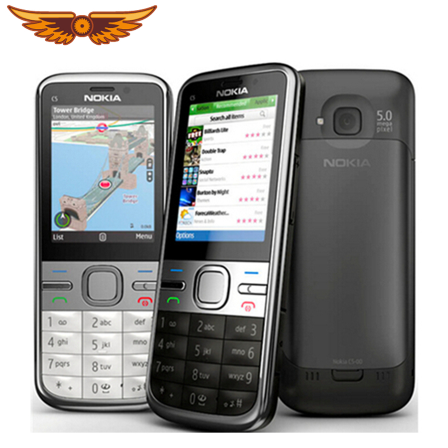 Nokia C5-00i Cellphone GSM 5MP Refurbished Cheap Original Unlocked FM Bluetooth 1 3G title=