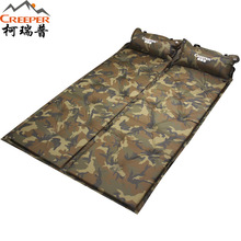 Creeper 183*57*2.5cm Sleeping Mat Mattress Self-Inflating Pad Single Person Foldable Bed with Pillow Camping Tent Beach Mats
