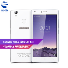 In Stock DOOGEE X5 MAX Pro 4G 5.0 Inch Smartphone 5.0MP MTK6737 Quad Core 4000mAh 2GB RAM 16GB ROM Fingerprint ID Mobile Phone