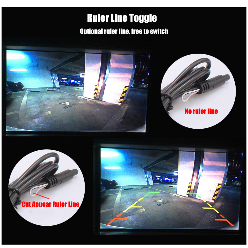 LiandLee Car Trunk Handle Rear View Reversing Parking Camera For Audi A4 A4L B8 8K 2008~2016 (13)
