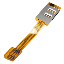 Dual Sim Card Double Adapter for iPhone4 4S Samsung Galaxy S4 Note2/3 i9300 7100