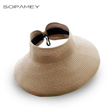 Fashion Women Summer Straw Sun Hat Cool Folding UV Straw Hat Beach Sunscreen Cap Easy Fold Empty Top Rattan Plaited Hat 2017 New