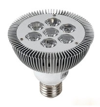 7W E27 LED Light Par30 Dimmable Spotlight Par 30 dimming Bulbs High Power Cool|Warm White 200V-240V DHL Free shipping