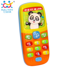 Baby Mobile Phone Toys Early Education Learning Machine Bear/Panda Cell Phone Music Toy Electric Phone Model Toy for Toddler(China)