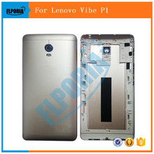 1PCS Original For Lenovo Vibe P1 A42 Battery Door Case Metal Back Cover Silver Housing Replacement Parts Buttons Camera Glass