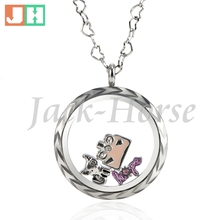 Water Proof 316L Stainless Steel 20mm 25mm 30mm glass memory floating locket living locket floating charm locket(China)