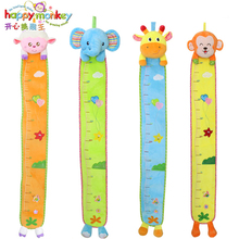 Baby Toys 0-12 Month Infant Height Measure Wall Stickers Growth Chart Rattles Educational Game Doll For Children Newborn Babies(China)