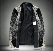 veste homme costume black casual suit men blazer slim fit M-6XL mens floral blazer men blazer designs mens blazer jacket